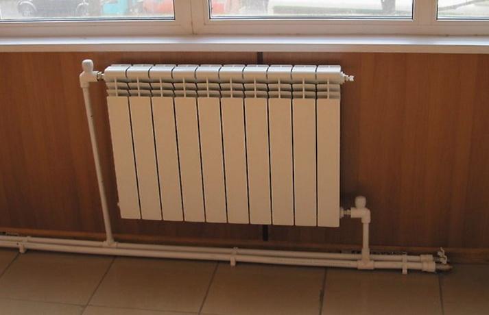 Вариант системы отопления и подключеня радиаторов - двухтрубная система