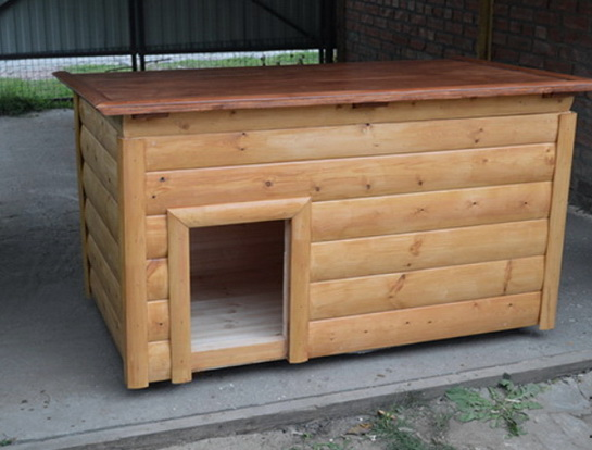 Маленькая симпатичная утепленная будка для небольшой собачки