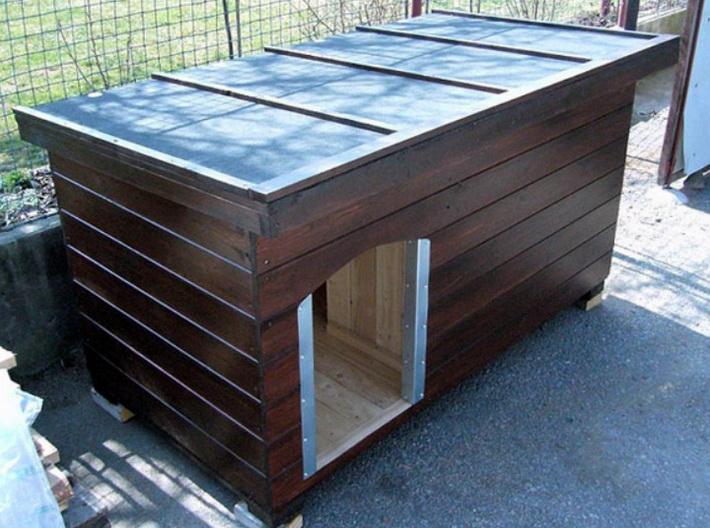 Надежная будка может быть сделана с использованием вагонки
