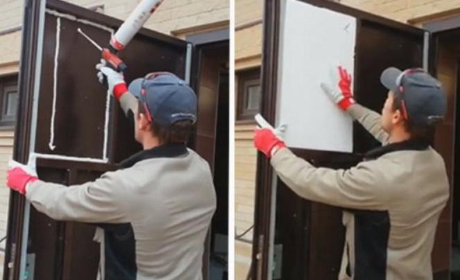 Утепление двери - важное действия для дома