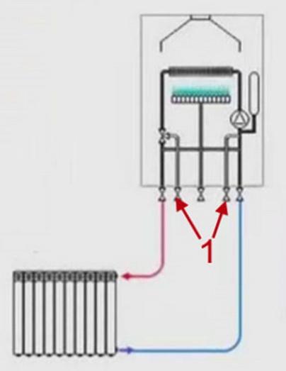 Подключение системы отопления к одному контуру