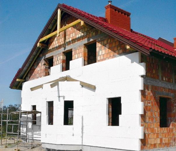 Утепление фасада с помощью пенопласта