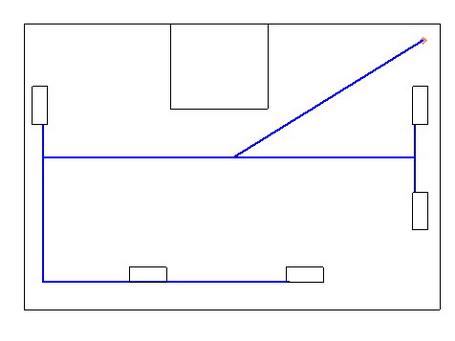 Схема второго этажа тупиковая система
