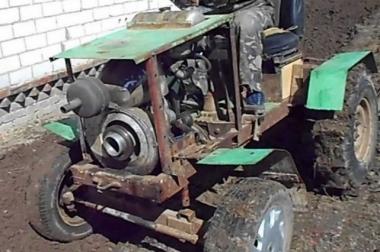 Трактор заводится на топливе с водой