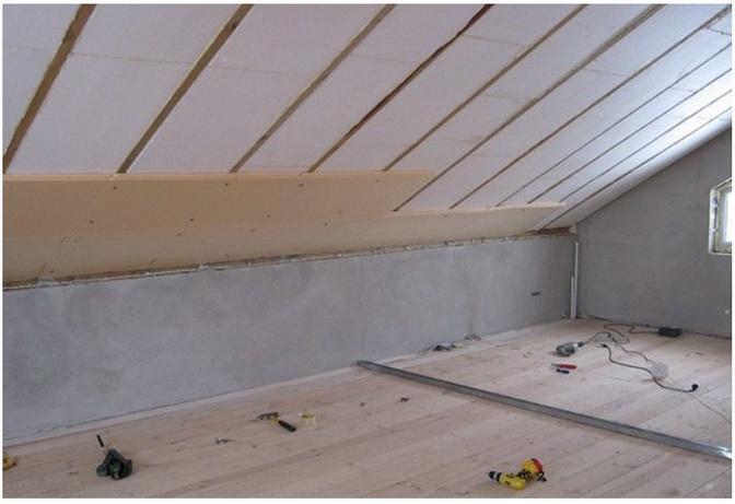Заделка крыши пенопластом для утепления