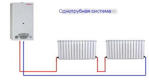 Система отопления с одной трубой