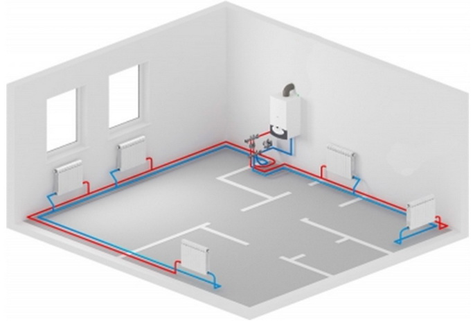 Трубопроводы могут размещаться в полу - рисунок