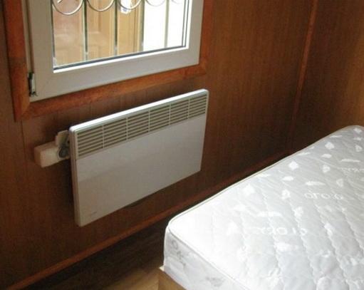 Слабое отопление электрическими конвекторами