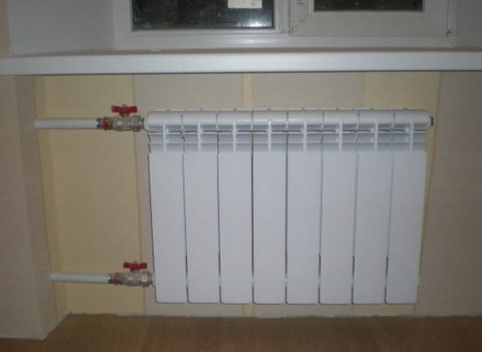 Запорный кран на радиаторе