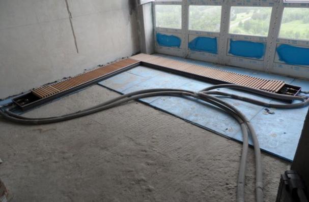 Подключение внутрипольных конвекторов гибким трубопроводом