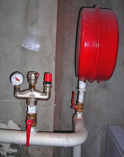 Установка группы безопасности в системе отопления