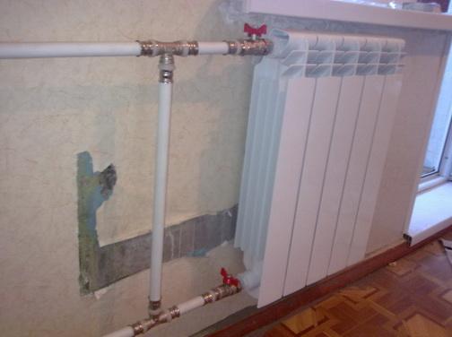 Металлопластиковое подключение радиатора в квартире металлопластиком