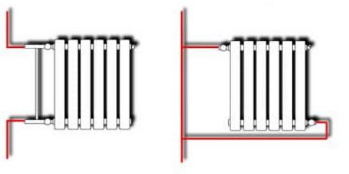Как обычно подключаются радиаторы