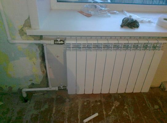 Полипропиленовые трубы в квартире с подключением радиатора
