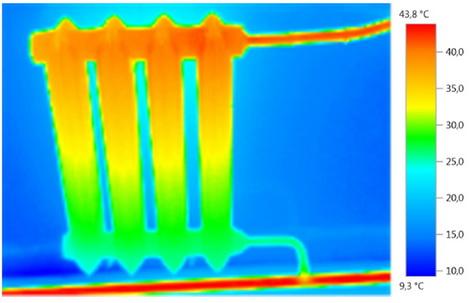 Нижнаяя часть радиатора холодная - нужна промывка системы
