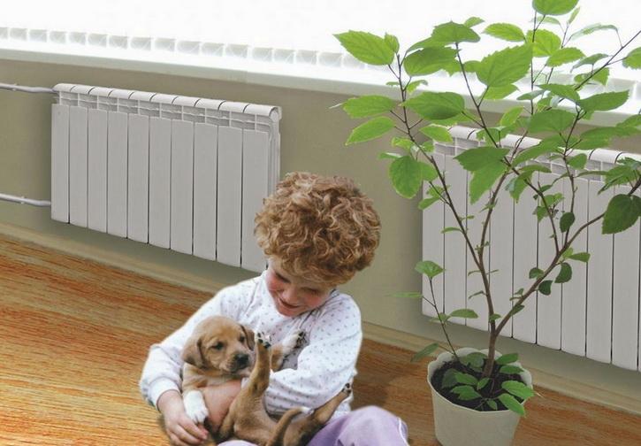 В теплом доме отопление радиаторами