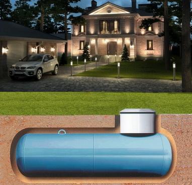отопление дома от газгольдера