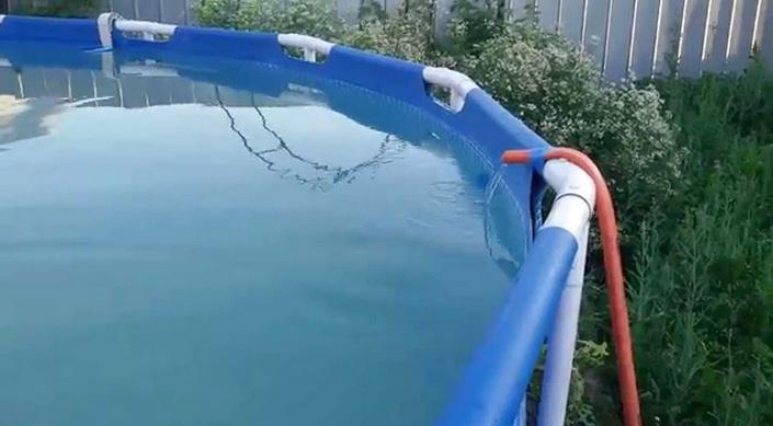 большие бассейны для купания летом - подогрев