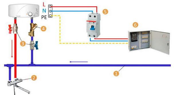 как подключить проточник - схема