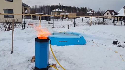 Зимний нагрев бассейна