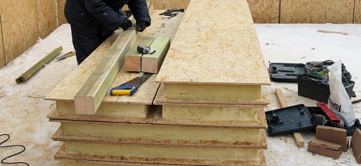 Строится дом из сип панелей