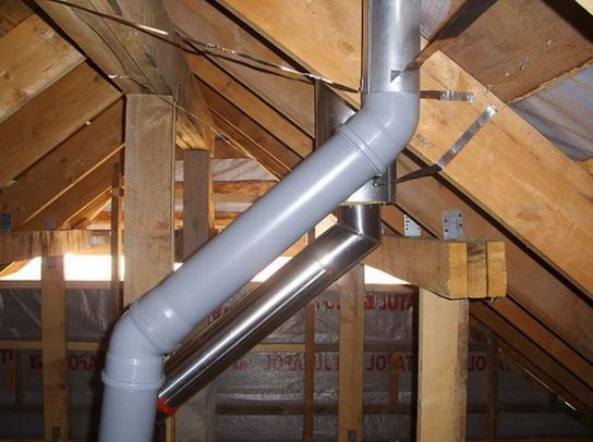 Канализационные трубы для вентиляции