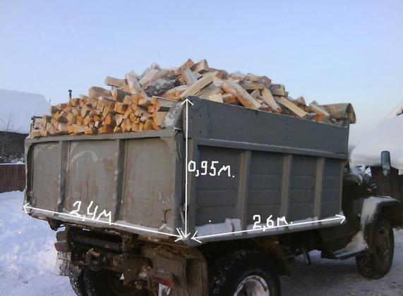 Сколько дров в грузовике