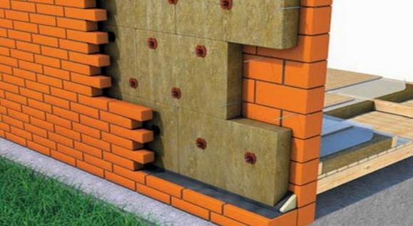 слой минваты в стене