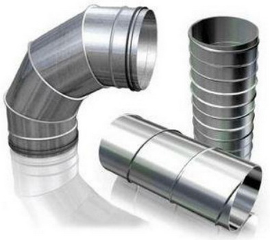 Различные металлические трубы для вентиляции