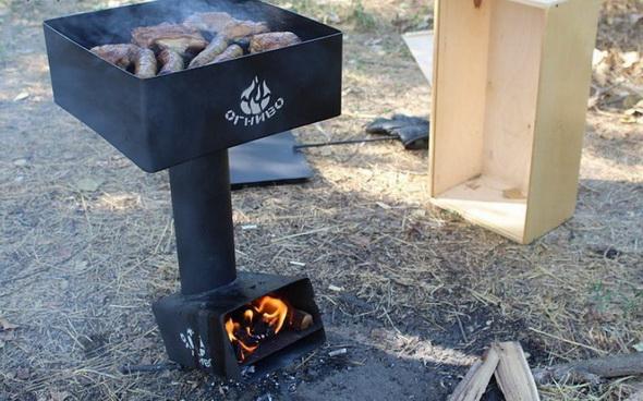 Обычная печь для пикника