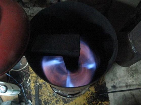 Как горит печь на солярке