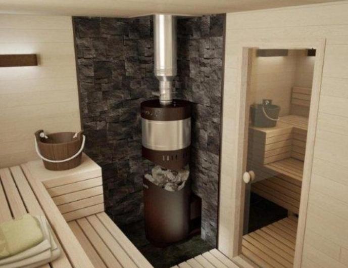 Установка высокой печки в бане
