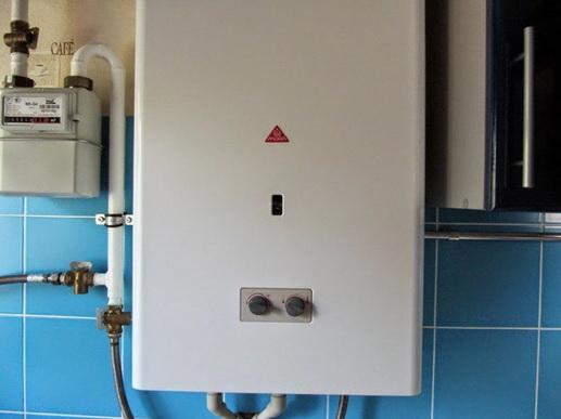 Обычная колонка для нагрева воды