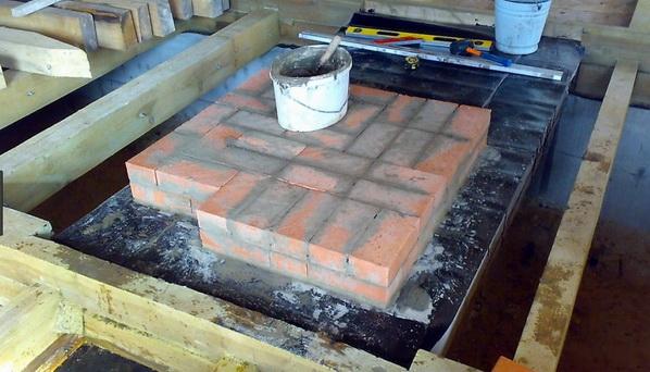Создание цоколя для камина