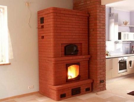кирпичная печка в доме