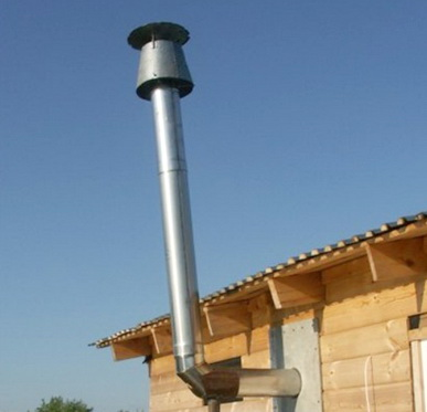 зонт дифлектор над дымоходом