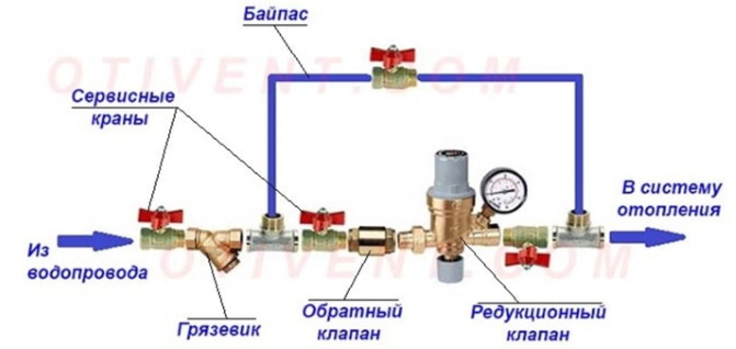 Схема подпитки