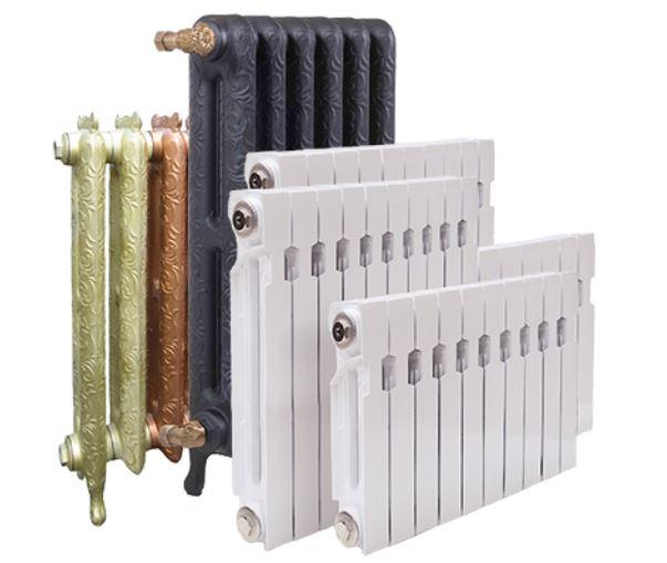 Разные радиаторы с разной теплоотдачей