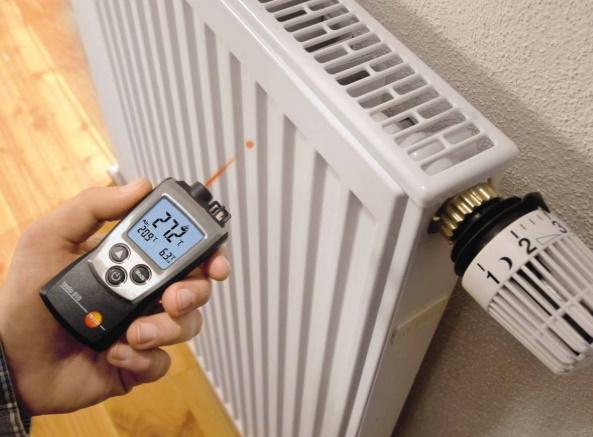 замер температуры радиатора