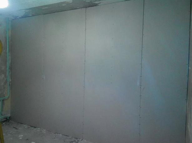 готовая стена после утепления изнутри