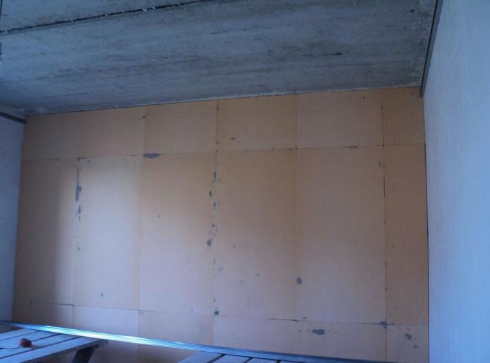 Наклейка полистирола на стену изнутри