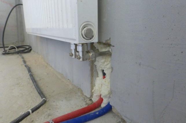 Подключение радиаторов снизу