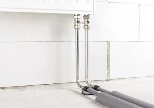 Подключение радиаторов трубками из стали