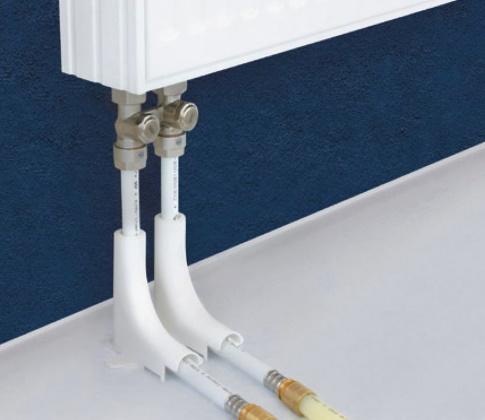 Подключение радиаторов снизу, из-под пола