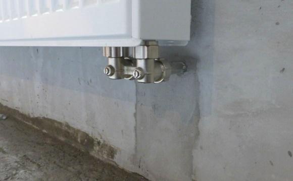 Результат подключения радиаторов в стену