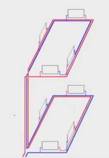 Как подключить отопление второго этажа к действующей системе