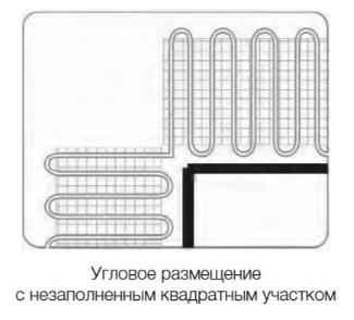 обводка кабелем препятствий в полу